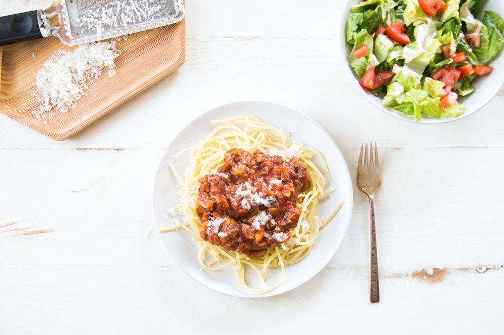 Spaghetti with Mushroom Ragu