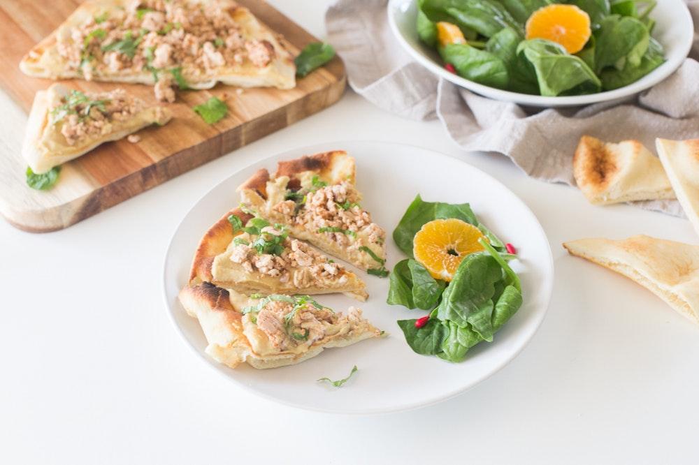Turkish Pita with Hummus