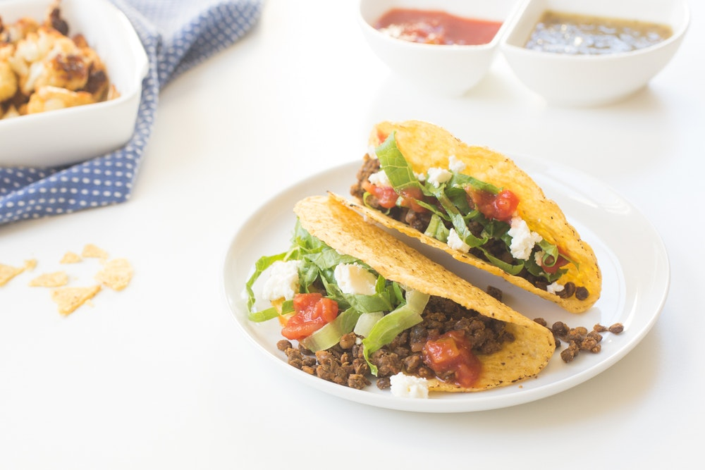 Crunchy Lentil Tacos with Feta