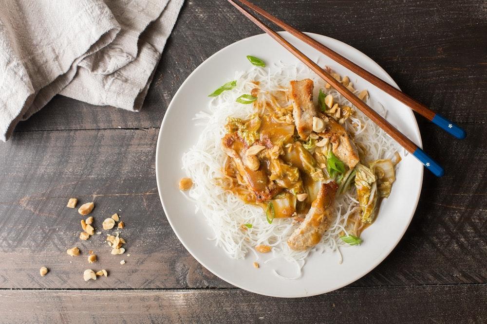 Pork and Cabbage Peanut Stir-Fry