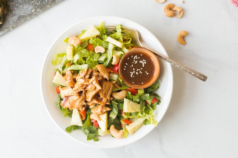 [Leftover] Hawaiian Pulled Pork Salad