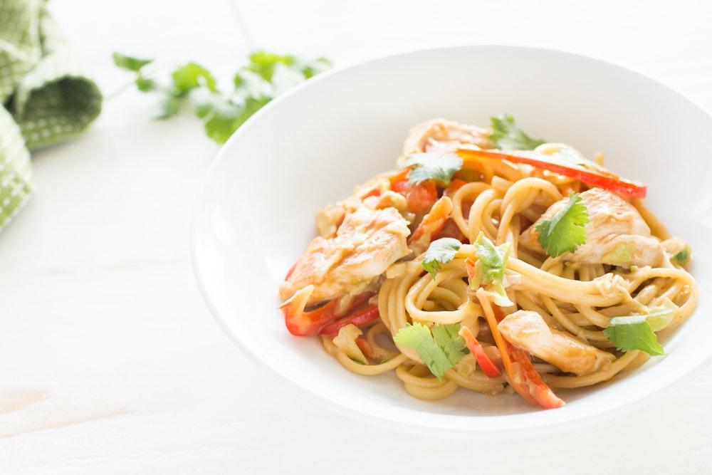 Thai Tofu Peanut Noodles