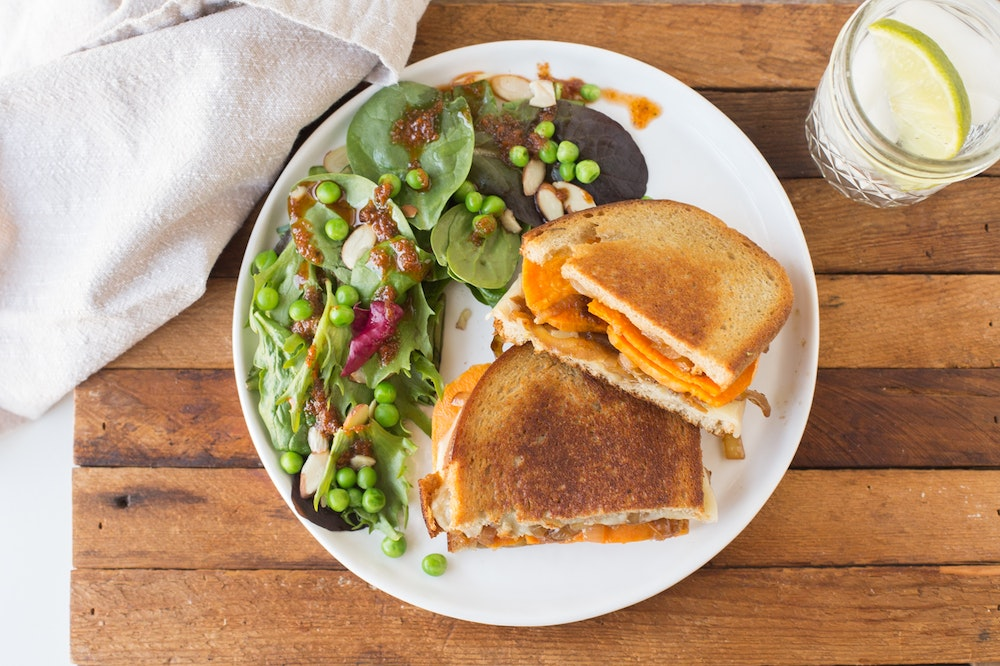 Sweet Potato and Balsamic Onion Grilled Cheese