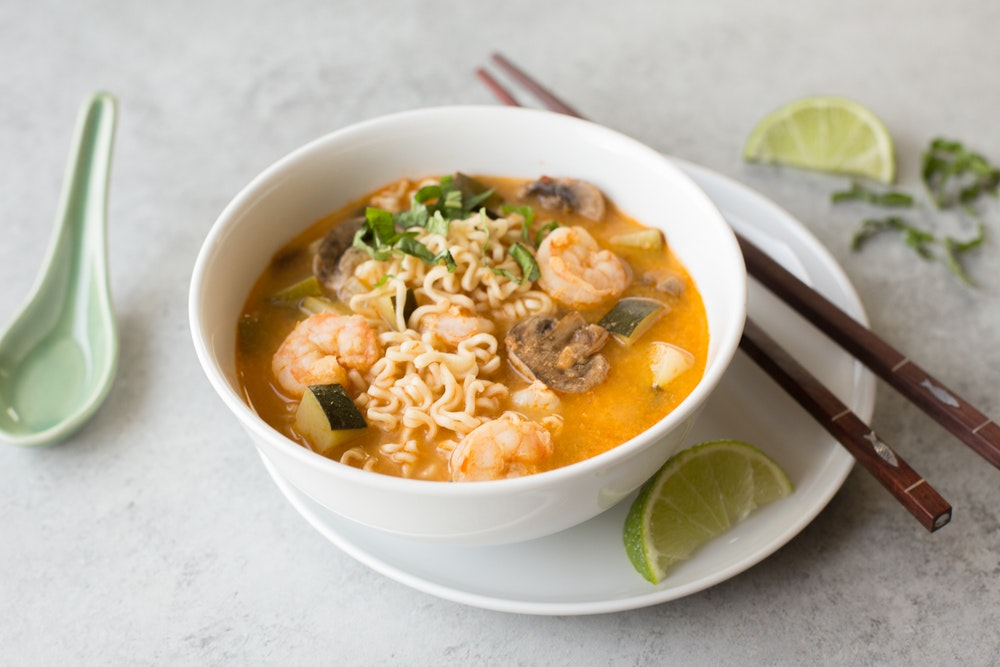 Tom Yum Shrimp Ramen