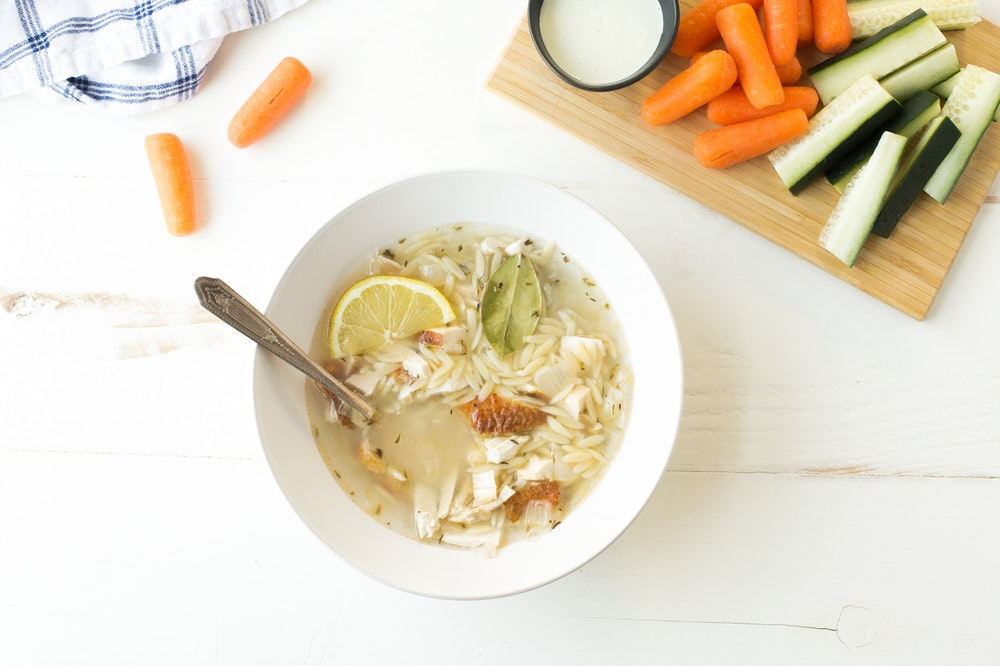 Lemon Orzo Soup with Chicken