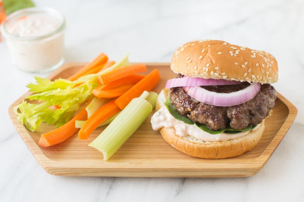 Buffalo Sauce Burger