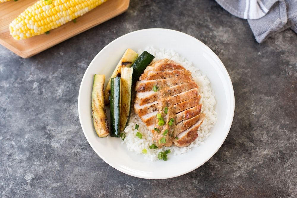Grilled Pork Chops with Miso Butter