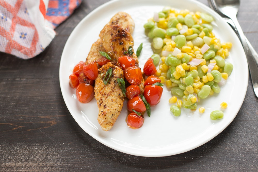 Chicken Cutlets with Tomato Herb Pan Sauce