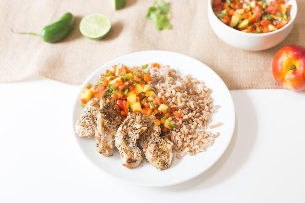 Dry Rub Chicken with Nectarine Salsa