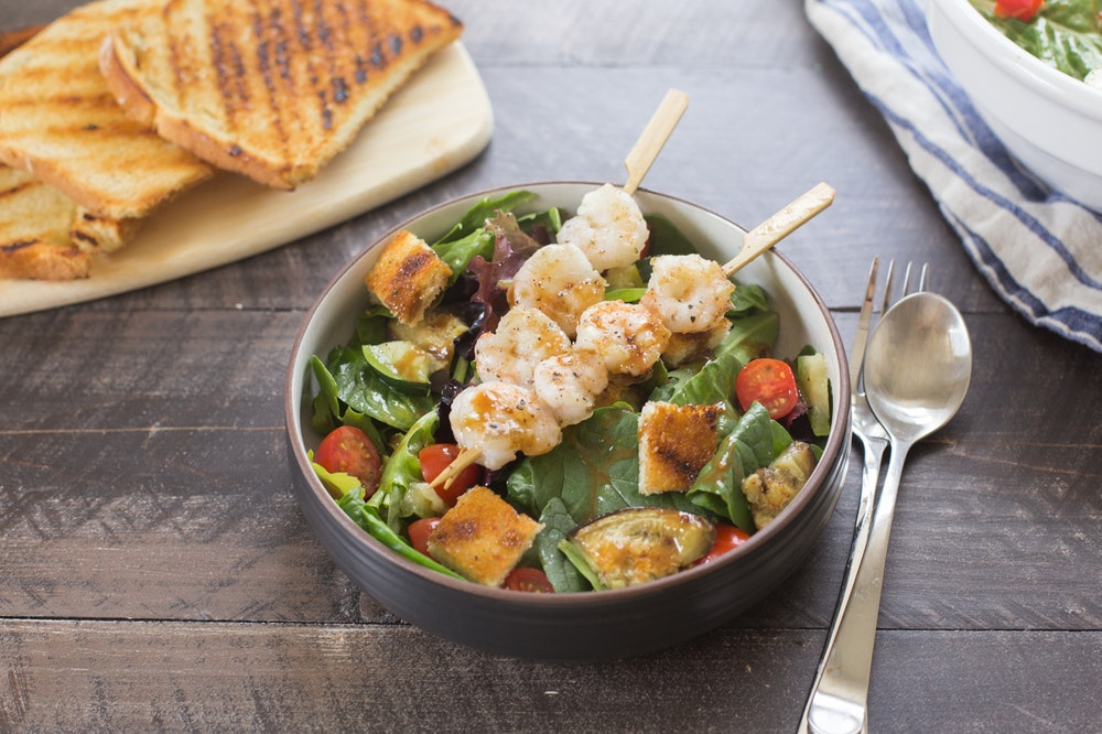 Shrimp and Grilled Vegetable Panzanella
