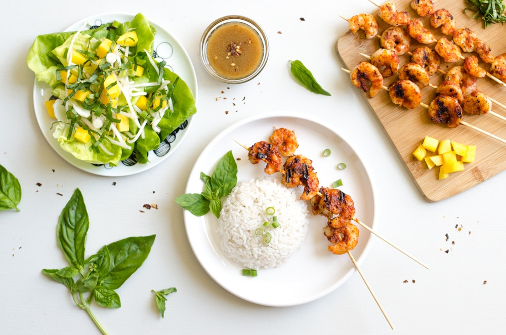 Red Curry Shrimp Skewers