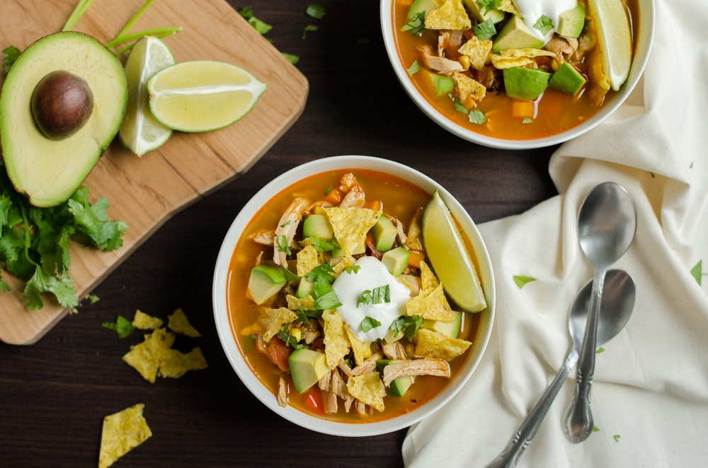 Slow Cooker Sopa Azteca with Chicken
