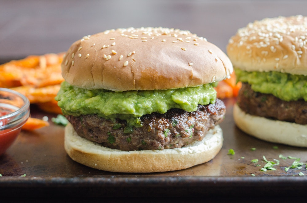 Chipotle Guacamole Burger Patties