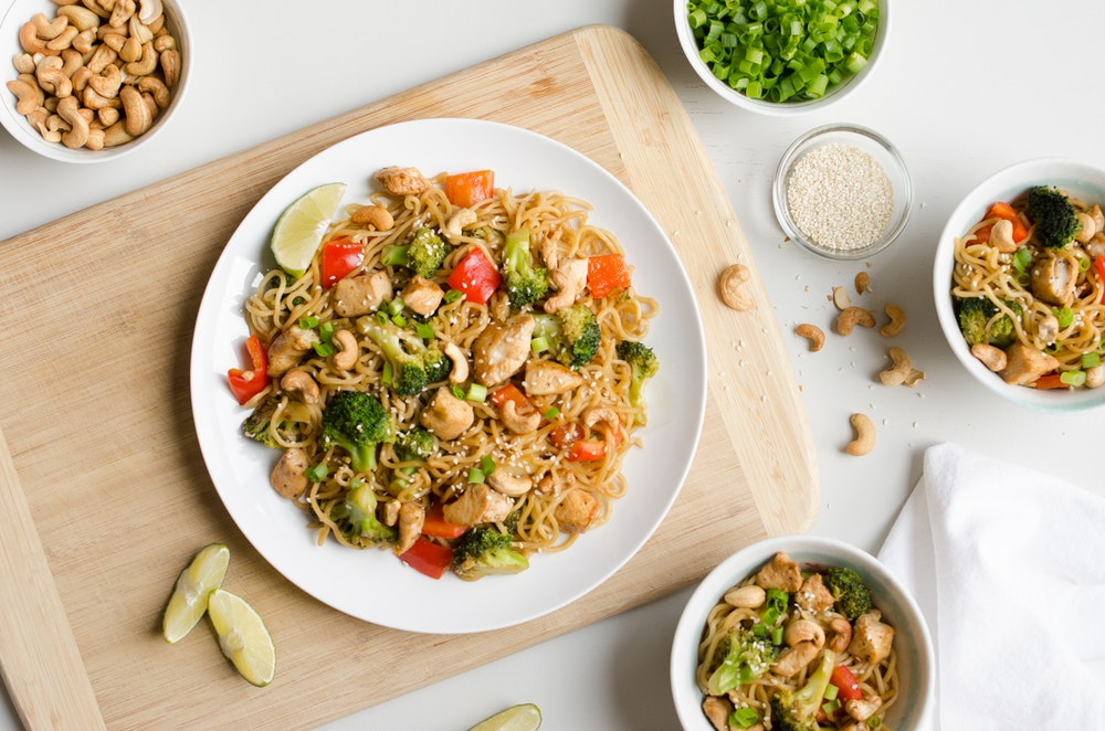 Sesame and Ginger Tofu Lo Mein