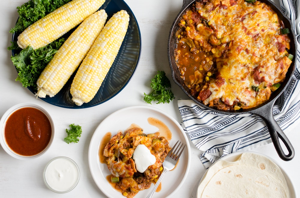 Skillet Enchilada Saute with Ground Beef