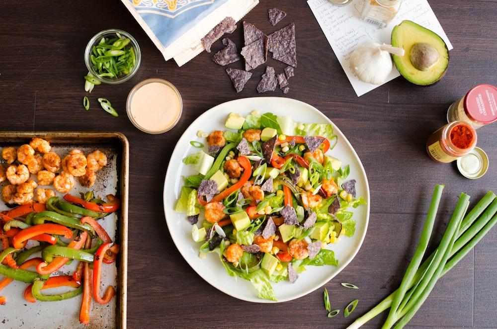 Shrimp Fajita Salad