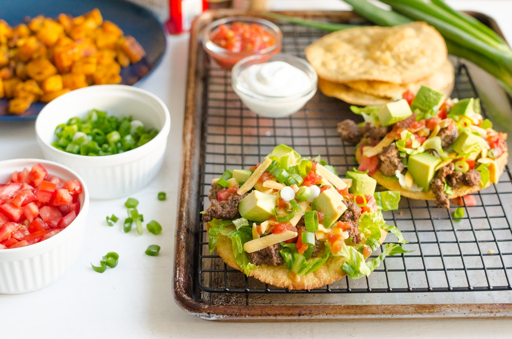 Tostadas with Refried Beans