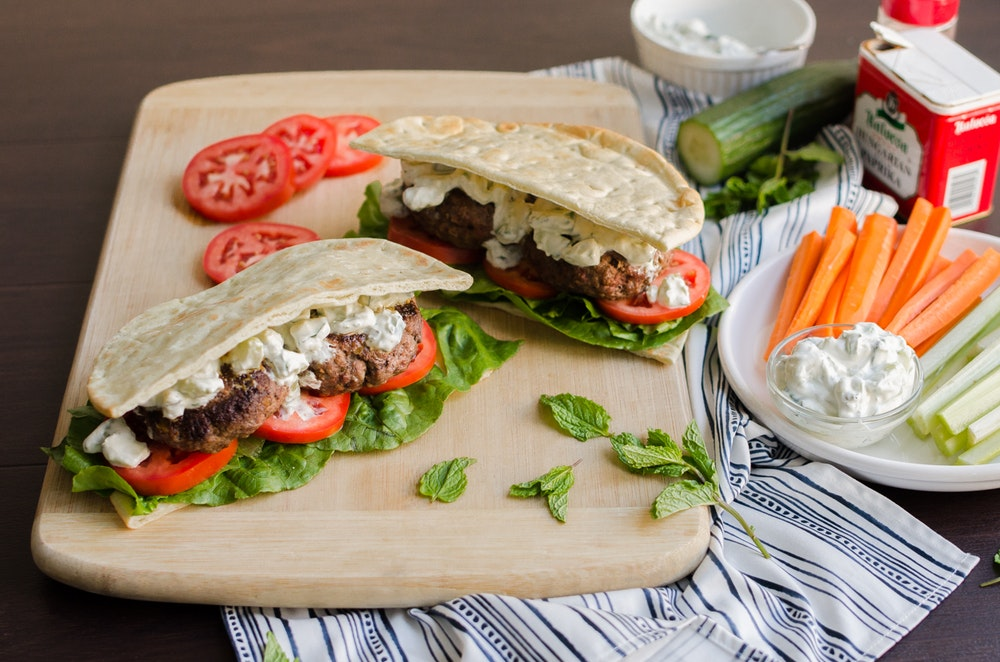 Greek Burger Pita Pocket