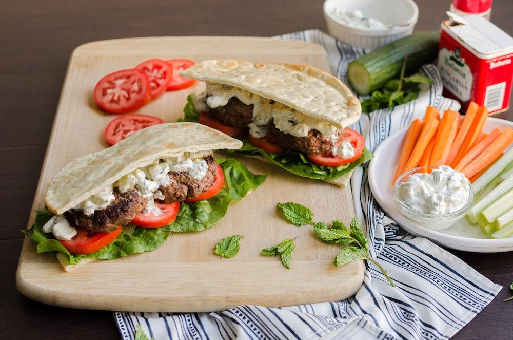 Greek Burger Pita Pocket