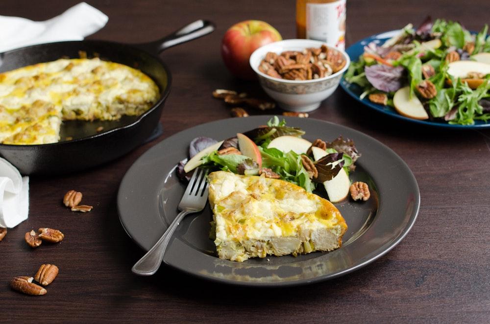 Ricotta, Leek, and Cauliflower Frittata