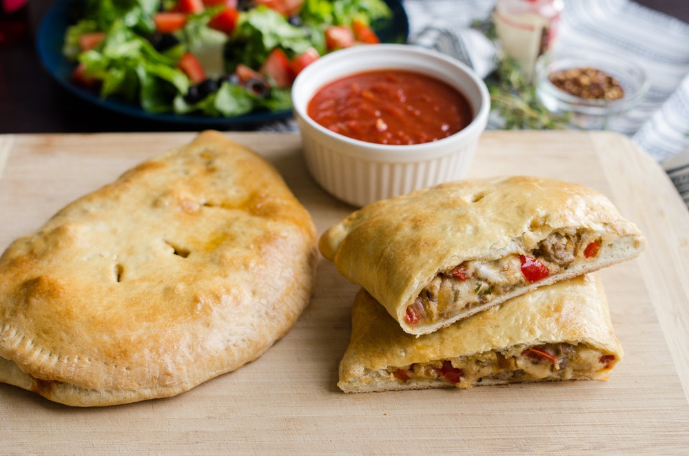 Sausage and Bell Pepper Calzone
