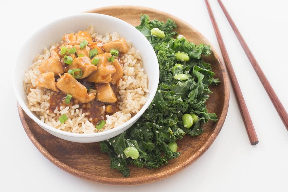 Teriyaki Chicken Brown Rice Bowls