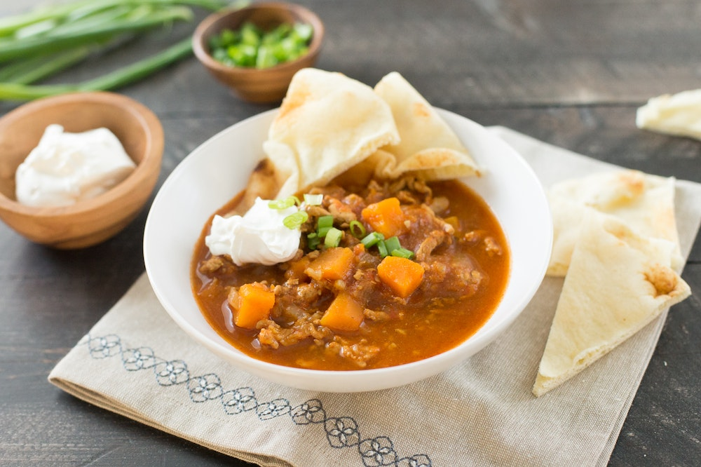 Slow Cooker (or not) Indian Chili with Ground Turkey