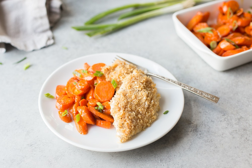 Aminos-Maple Almond Crusted Chicken Breasts