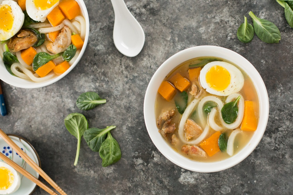 Chicken Miso Udon Noodle Soup