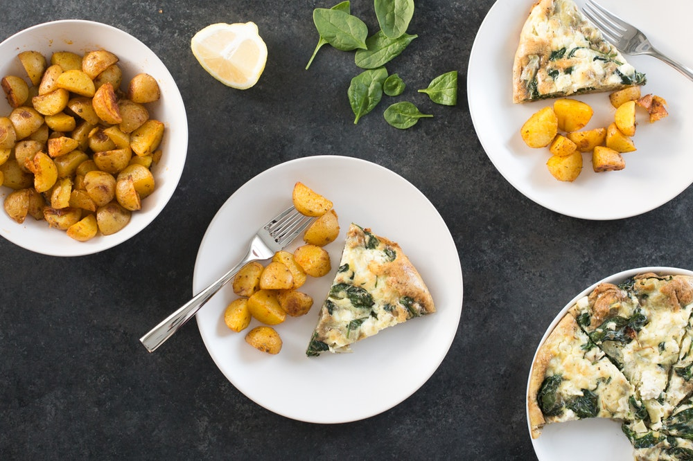 Spinach, Artichoke, and Feta Frittata