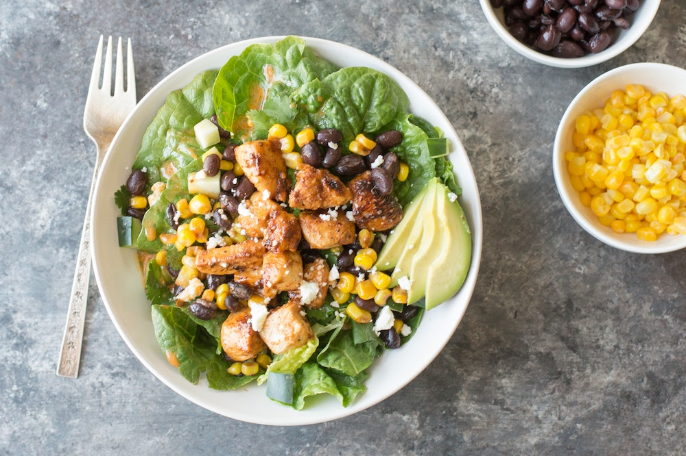Honey Adobo Chopped Chicken Salad