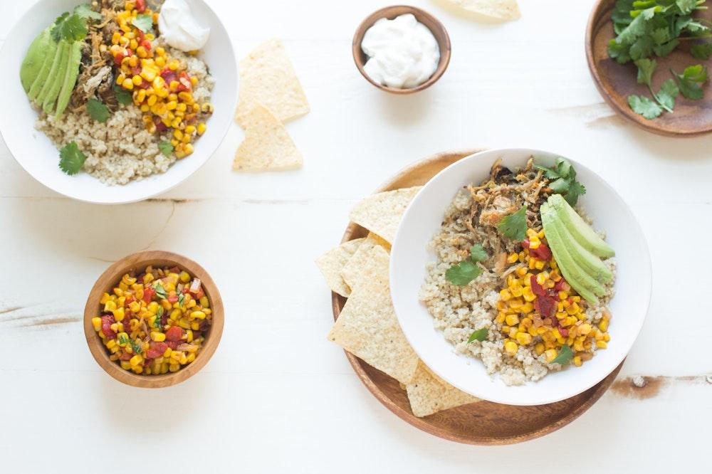 Slow Cooker Carnitas Burrito Bowls