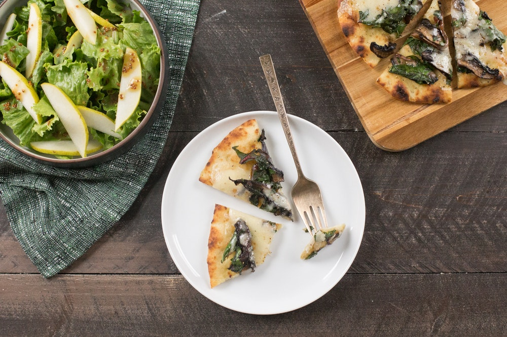 Portobello Mushroom and Swiss Chard Flatbread