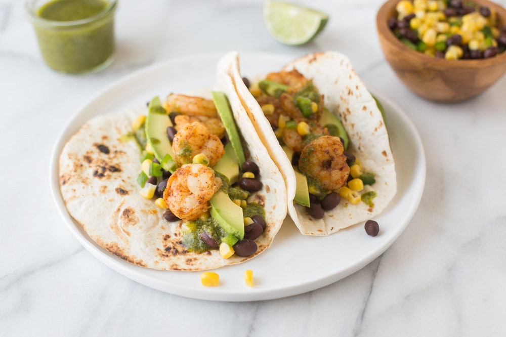 Shrimp Tacos with Chimichurri