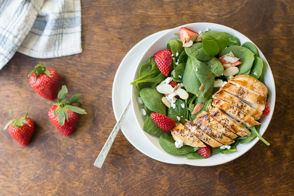 Warm Balsamic Farro and Spinach Salad