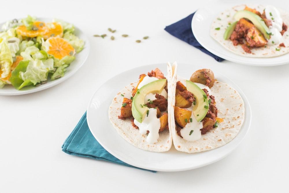 Chorizo and Roasted Potato Tacos