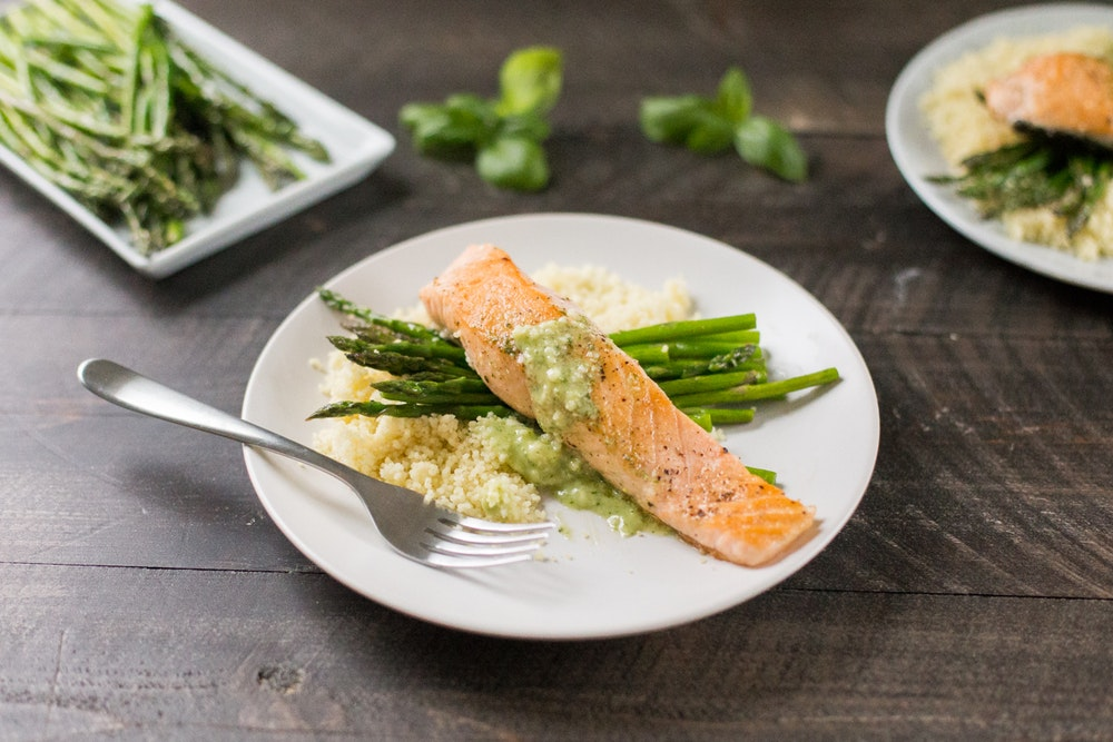 Salmon with Pesto Butter