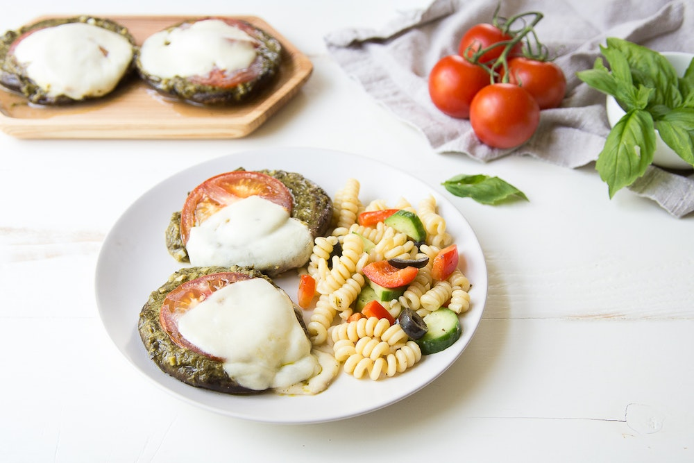 Portobello Pesto Pizzas