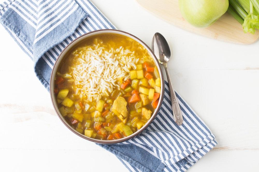 Mulligatawny Soup with Chickpeas