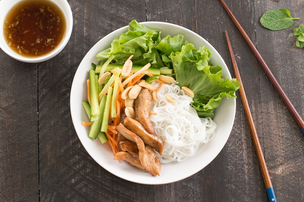 Vietnamese Salad with Chicken and Vermicelli