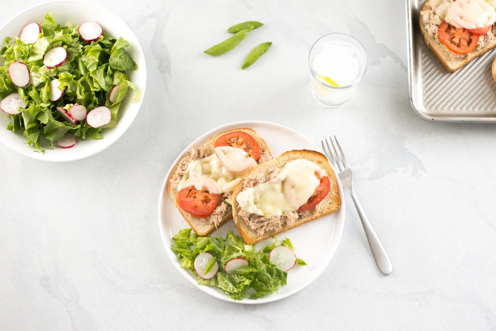 Tuna Melt with Tomatoes