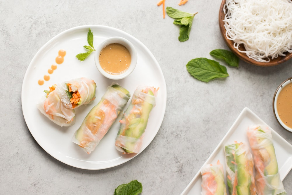 Chicken and Avocado Summer Rolls