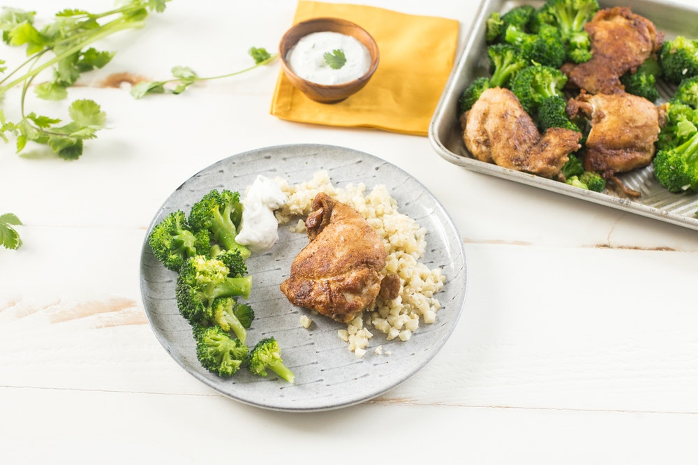Sheet Pan Indian Chicken and Broccoli