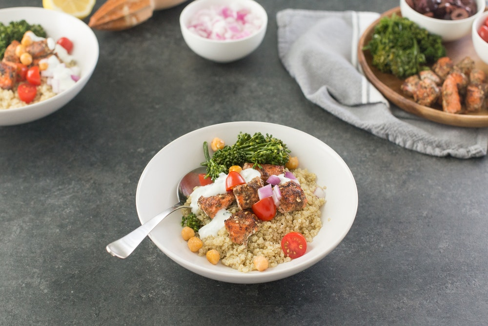 Za'atar Chickpea and Quinoa Bowl