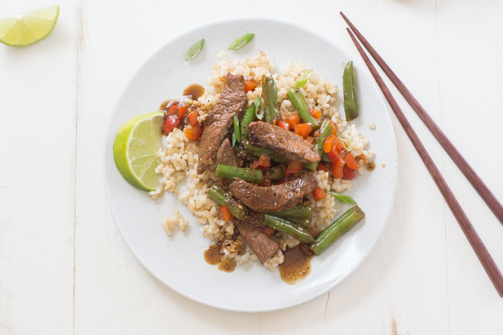 Sesame Beef and Green Bean Stir-Fry