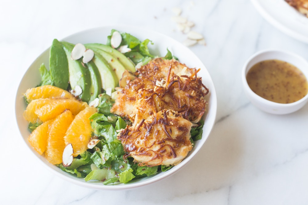 Coconut Crusted Chicken Salad