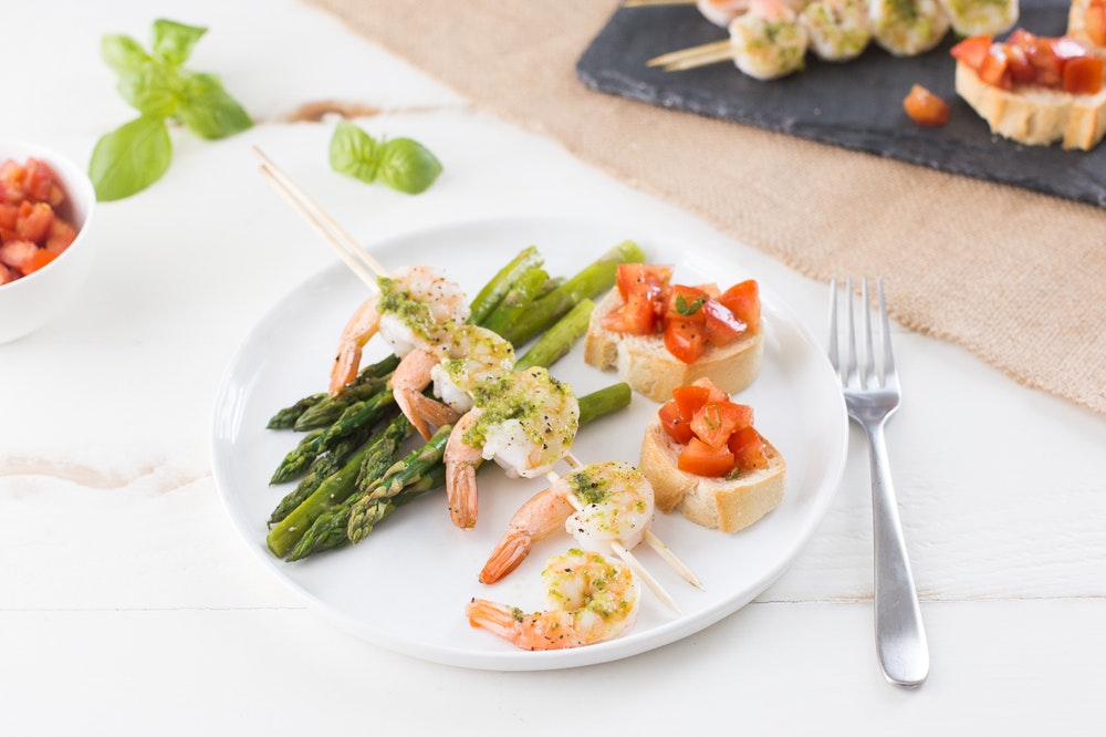 Pesto Shrimp Skewers