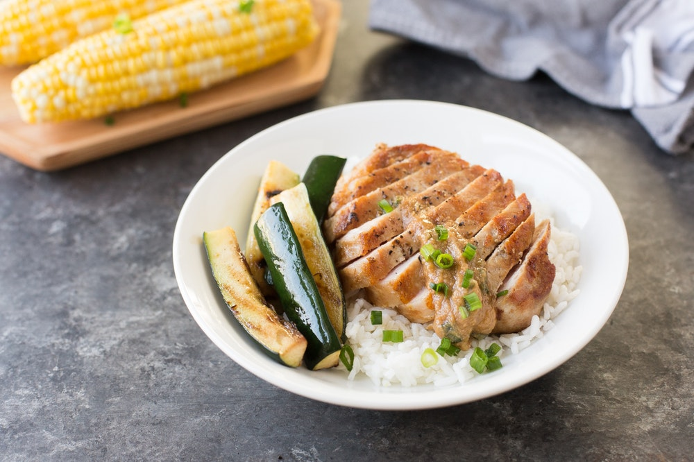 Pork Chops with Miso Butter