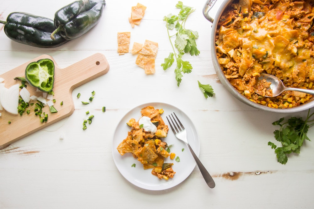 Skillet Enchiladas with Ground Chicken