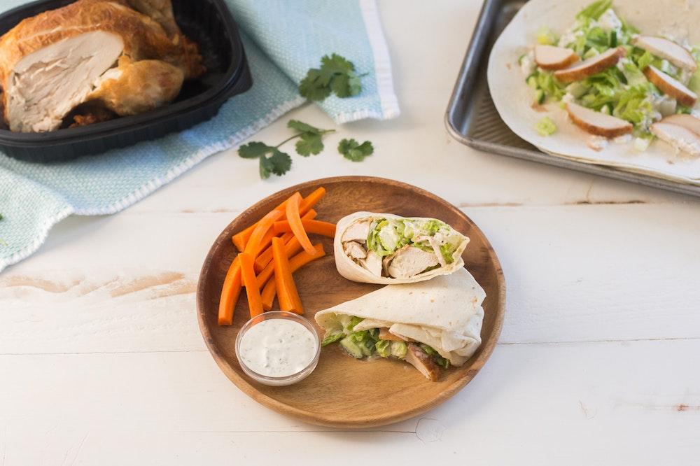 Rotisserie Chicken Ranch Wraps